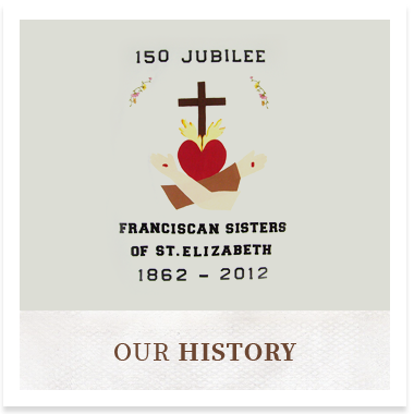 The crest of the Franciscan Sisters linking to the History Page